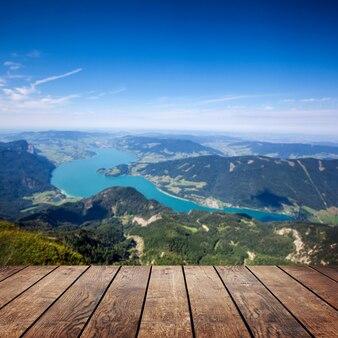 오스트리아의 배경 파노라마 산