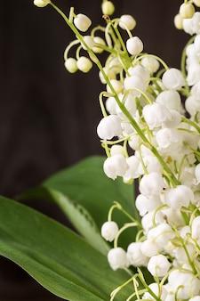 계곡의 백합 꽃의 아름다운 꽃다발