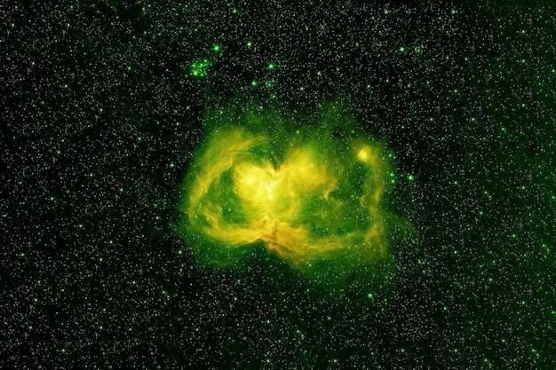 美しく明るい緑色の星雲。この画像の要素はnasaから提供されました。高品質の写真