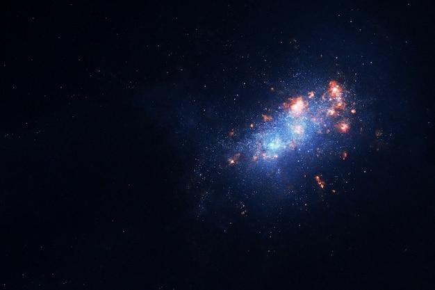 この画像の美しい銀河の要素は、nasaによって提供されました