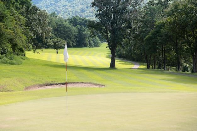 화창한 날에 아름다운 골프 코스