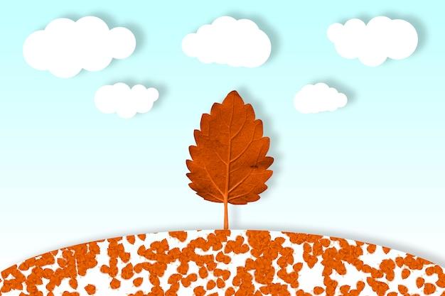 秋の美しい丘