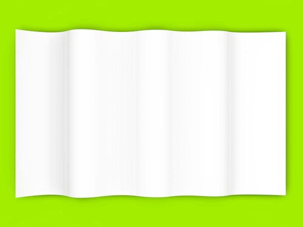 空白の紙。 3dレンダリングされたイラスト。