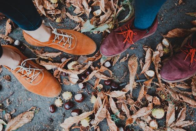 Сапоги и каштаны - весёлая осень