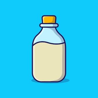 Бутылка молока мультфильм значок иллюстрации