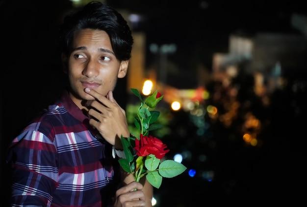 Мальчик с розой propose day image