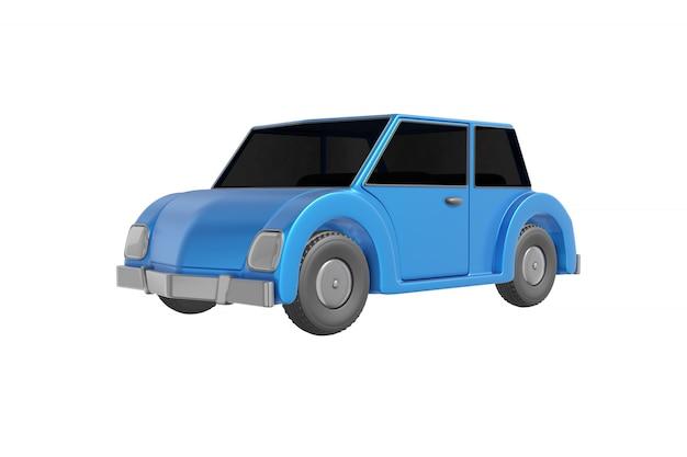 Автомобиль с мультяшным реалистичным стилем дизайна