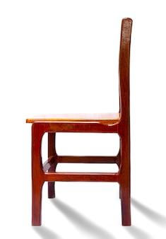 의자 나무 빈티지 스타일 격리 된 흰색 배경