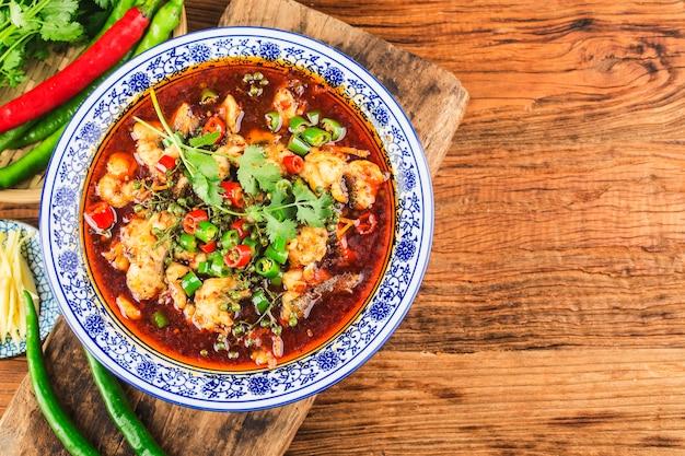 Китайский деликатес отварная рыба