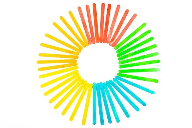 다채로운 막대기의 원