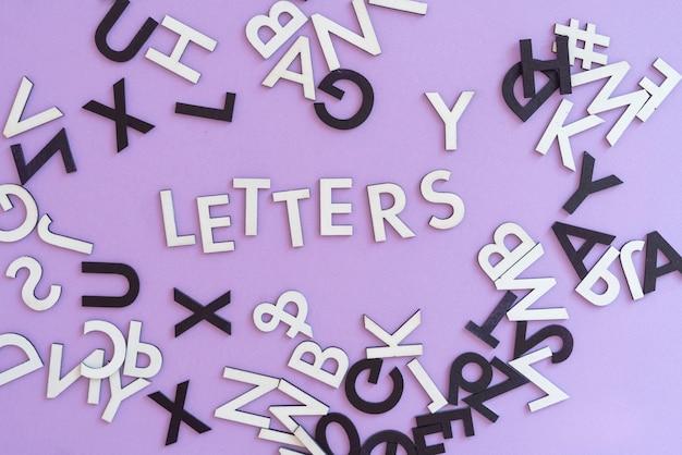 플랫 레이 개념 위의 추상 임의 절단 문자 알파벳의 컬렉션 집합
