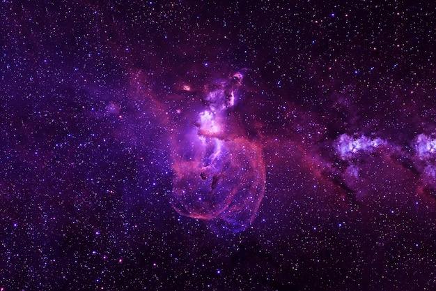 Красочная красивая галактика со звездами элементы этого изображения предоставлены наса.