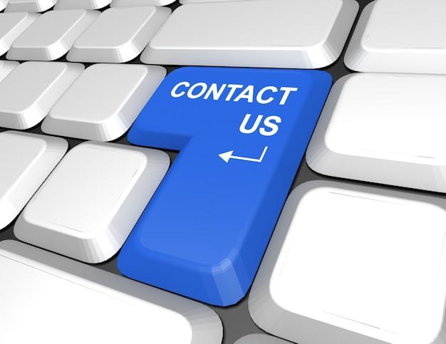 キーボード、インターネット、またはオンライン連絡先の「お問い合わせ」メッセージ