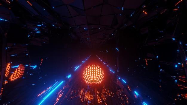 Крутые футуристические научно-фантастические техно-огни круглой формы - идеально подходят для футуристического фона