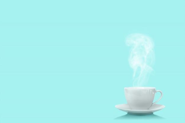 プロトンパープルの背景にコーヒー1杯
