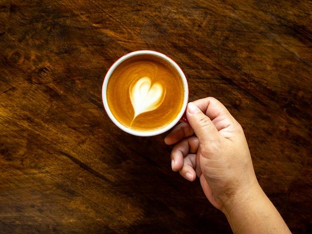 ハートラテアートとコーヒー1杯