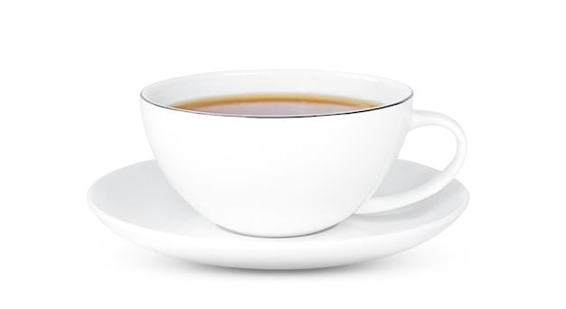 分離されたお茶とお茶のカップ。