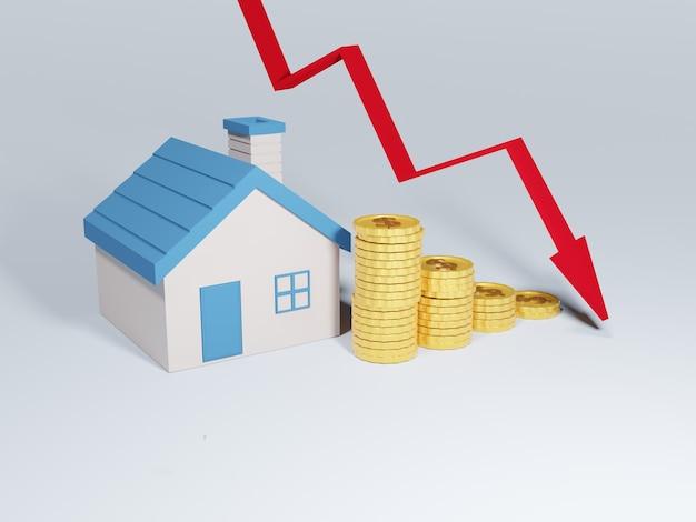 부동산 가격의 하락.