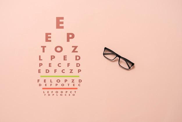Тест на зрение, проверка зрения в очках.
