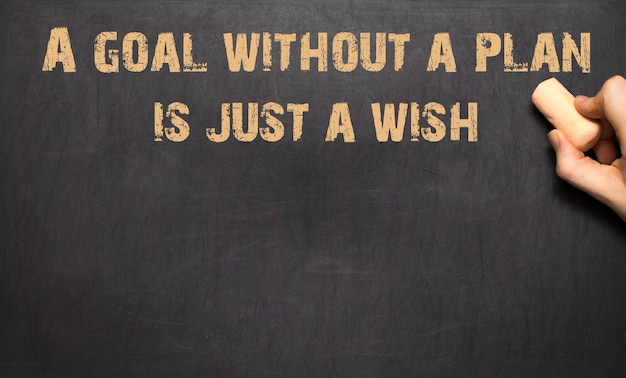 計画のない目標はただの願いです!