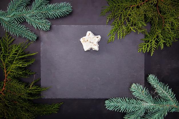 Хороший фон для кафе или ресторана, меню, акции, скидки, распродажа на рождество или новый год.