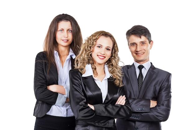 Группа привлекательных и успешных бизнесменов, готовых к серьезным