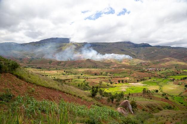 マダガスカル島の風景ショット