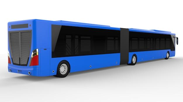 이미지 및 비문을 배치하기 위한 대형 도시 버스 모델 템플릿