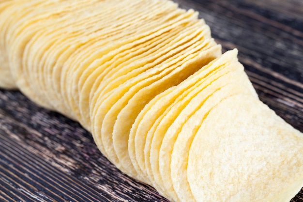 Большое количество желтых чипсов