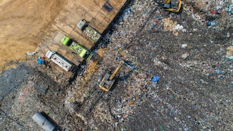 A lot of waste is disposed of in the waste disposal pits.