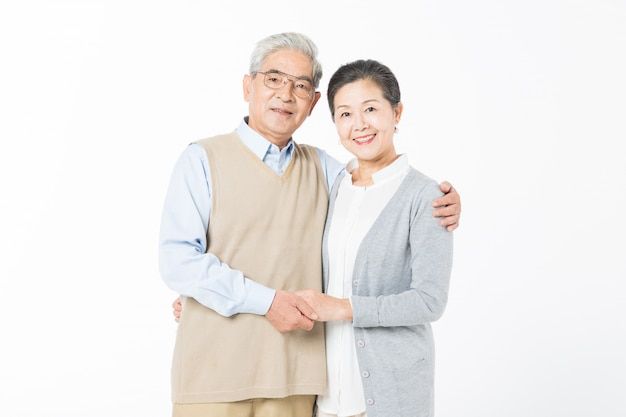 分離された愛情のある老夫婦