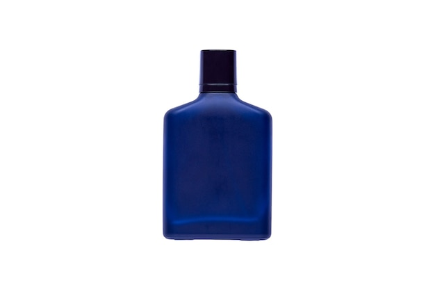 白い背景の上に分離された豪華な香水瓶