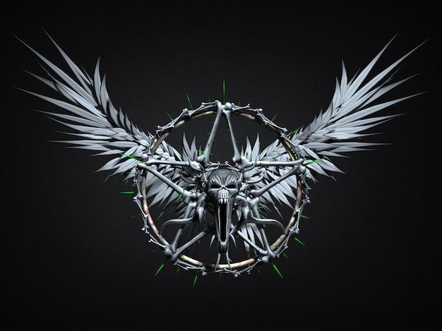 魔法のシンボル。 3dイラスト