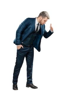 ビジネススーツを着た男、ビジネスマンが見下ろす