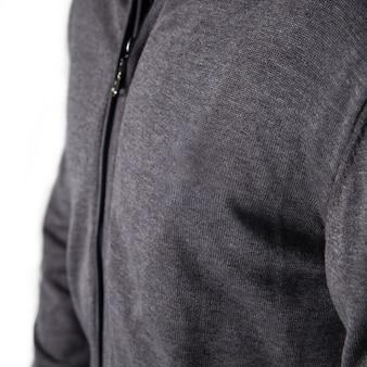 Мужчина в сером пиджаке с замком. Premium Фотографии