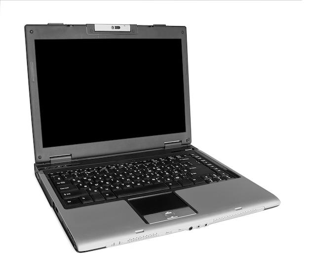 Современный ноутбук на белом backgraunds.