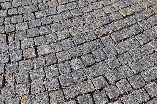 Современная дорога из булыжника и камня