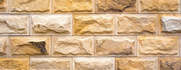 パノラマの形をした自然石の背景。