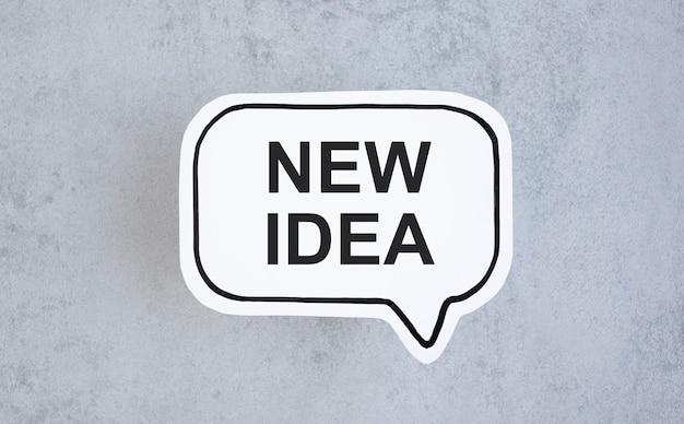 새로운 아이디어, 텍스트는 메모지에 기록됩니다.