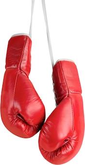 透明な背景で隔離のボクシンググローブのペア
