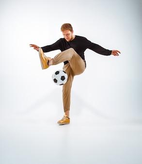 ボールを持つファンの肖像画