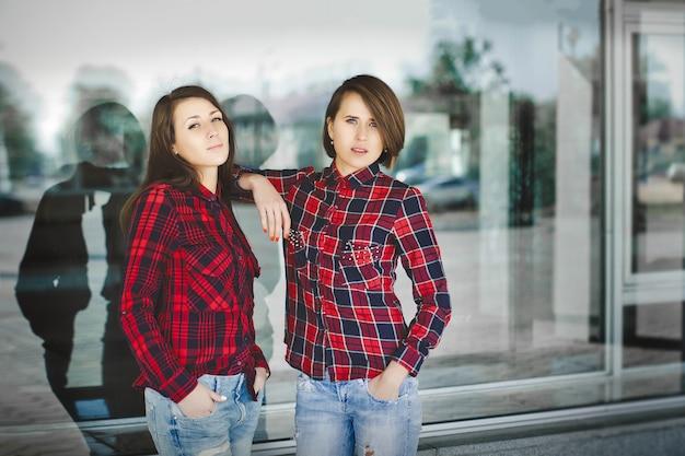 두 여학생의 초상화.