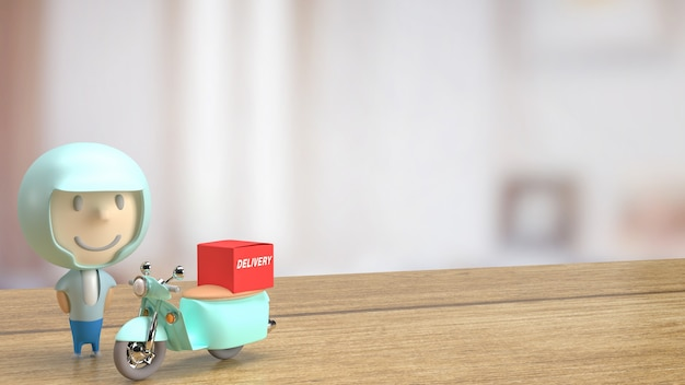 비즈니스 개념 3d 렌더링을 위한 라이더 배달