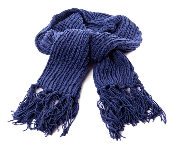 ブルーの冬のスカーフ