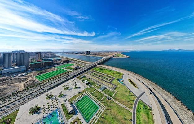 中国広東省の海辺の街 無料写真