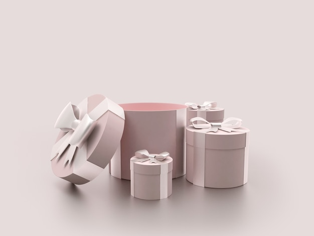 Набор подарочных коробок с открытой крышкой