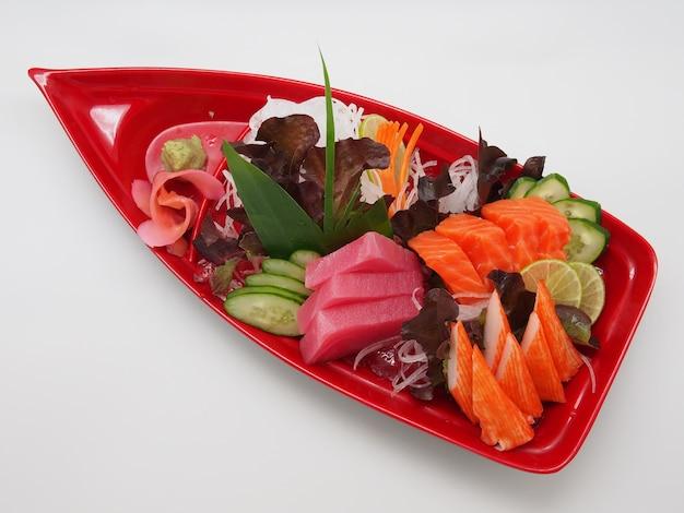 생선으로 만든 일본식 생선회.