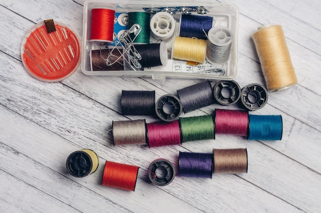 ミシン用の糸と針のセット