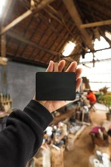 カフェの小さな黒板