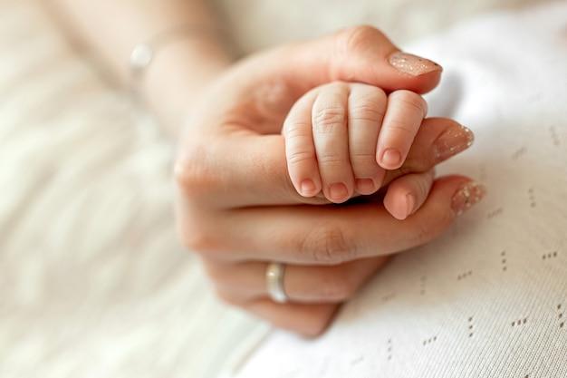 어머니의 손에 아이의 작은 아이의 손 가족의 사랑 가족 가치 어머니의 사랑
